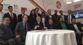 Signature d'une convention de mécénat pour la reconversion des sportifs de haut-niveau paralympiques
