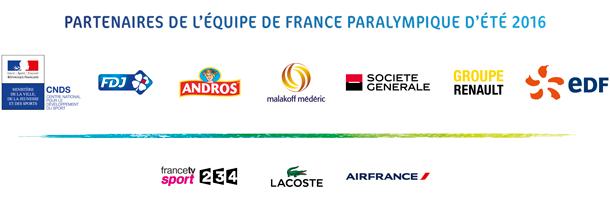 Partenaires de l'Equipe de France Paralympique d'été 2016