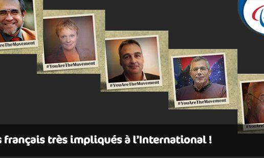 Les français très impliqués à l'International !