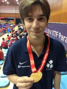 Pascal Pereira Leal - Champion du Monde ITTF - crédit FFSA