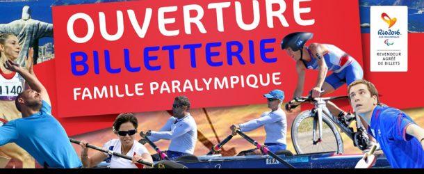 Rio 2016, ouverture de la billetterie famille paralympique