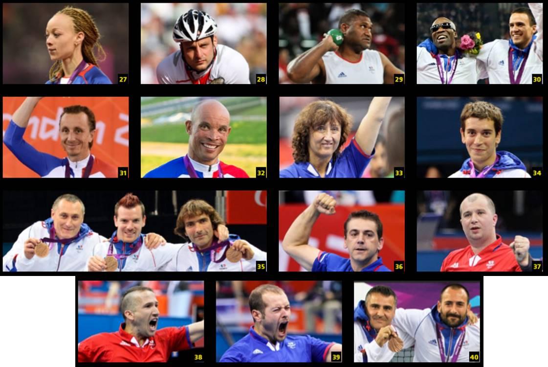 Image des médaillés de bronze à Londres