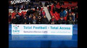 Euro 2016, accessibilité dans les stades > sondage destinés aux supporters en situation de handicap et leurs accompagnateurs !