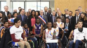 Le Président du Comité Paralympique International , Andrew Parsons, en visite officielle à Paris