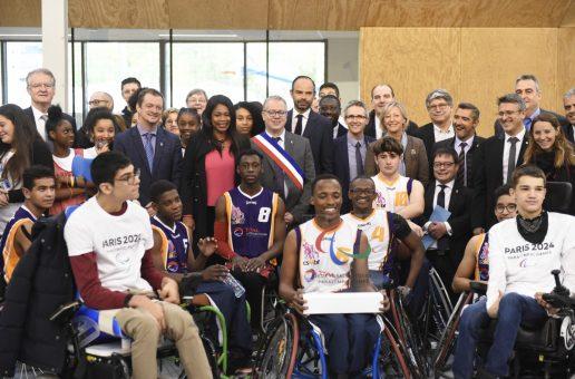 Le Président du Comité Paralympique International , Andrew Parsons, en visite officielle à Paris
