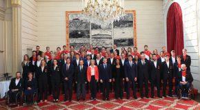 Les équipes de France Olympique & Paralympique 2018 reçues à l'Elysée !